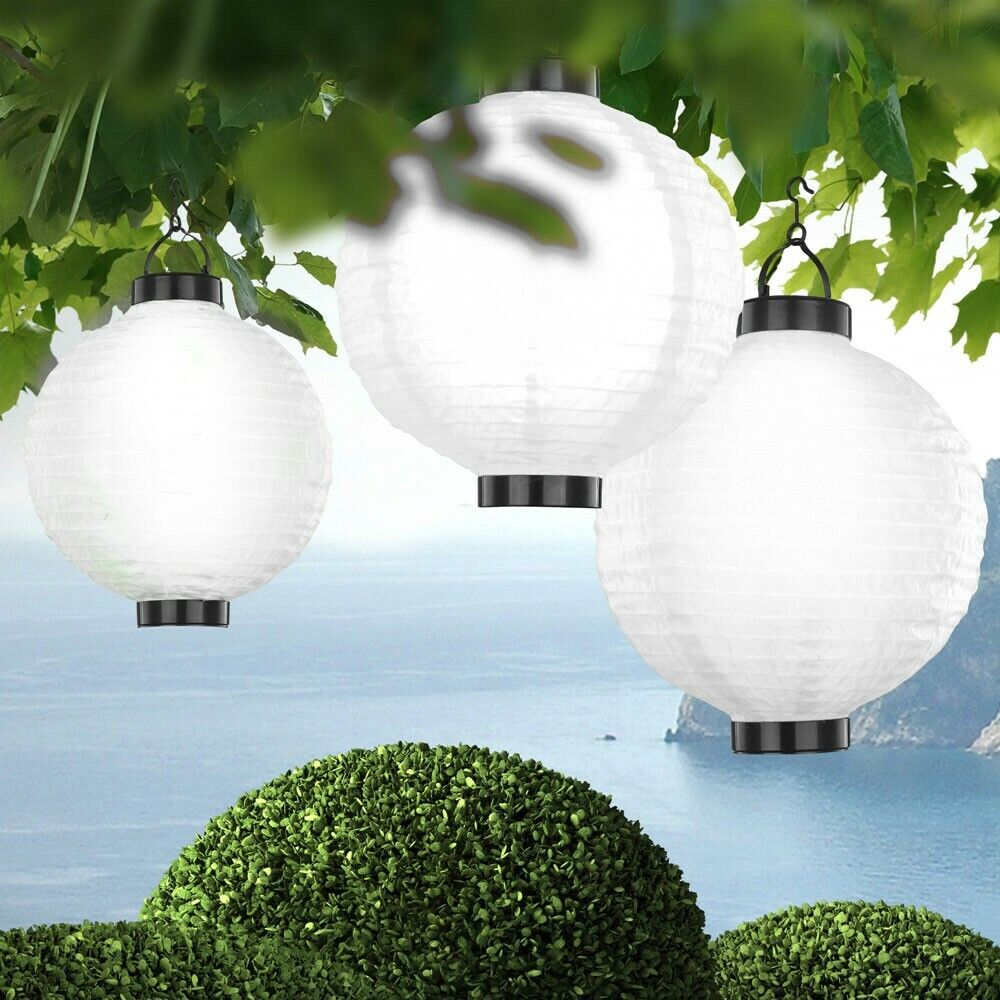 3er set led solar h nge leuchte pendel au en deko lampe beleuchtung garten licht ebay. Black Bedroom Furniture Sets. Home Design Ideas