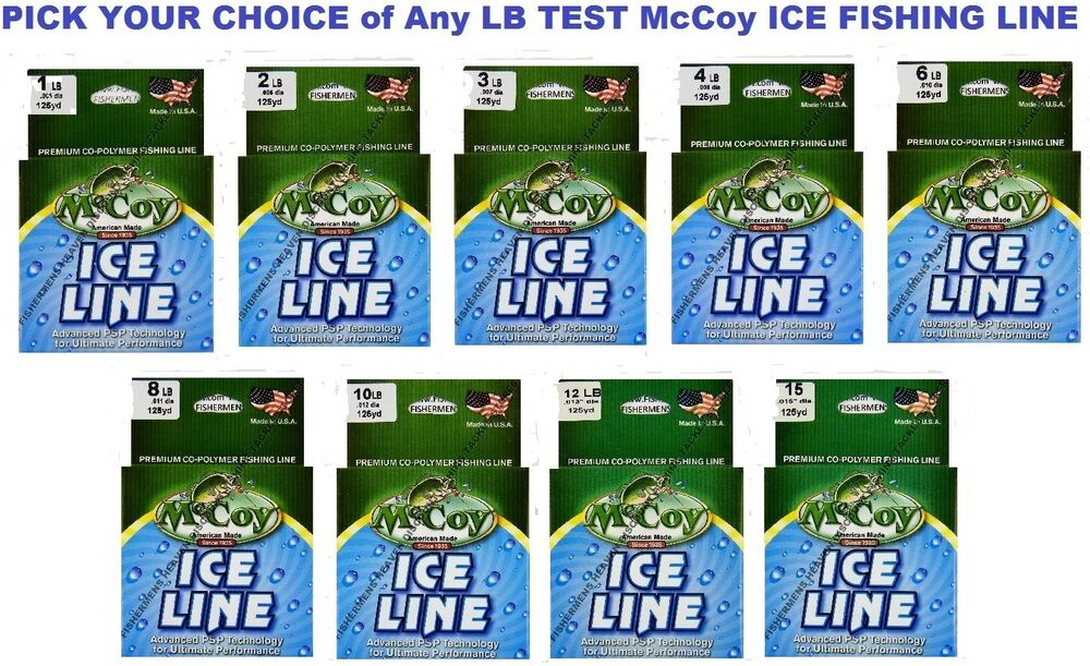 Mccoy ice fishing line copolymer mean green 125 yard spool for Fishing line test