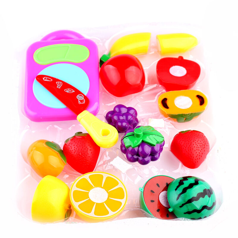 SUP Pretend Role Play Kitchen Fruit Vegetable Food Toy Cutting Set ...