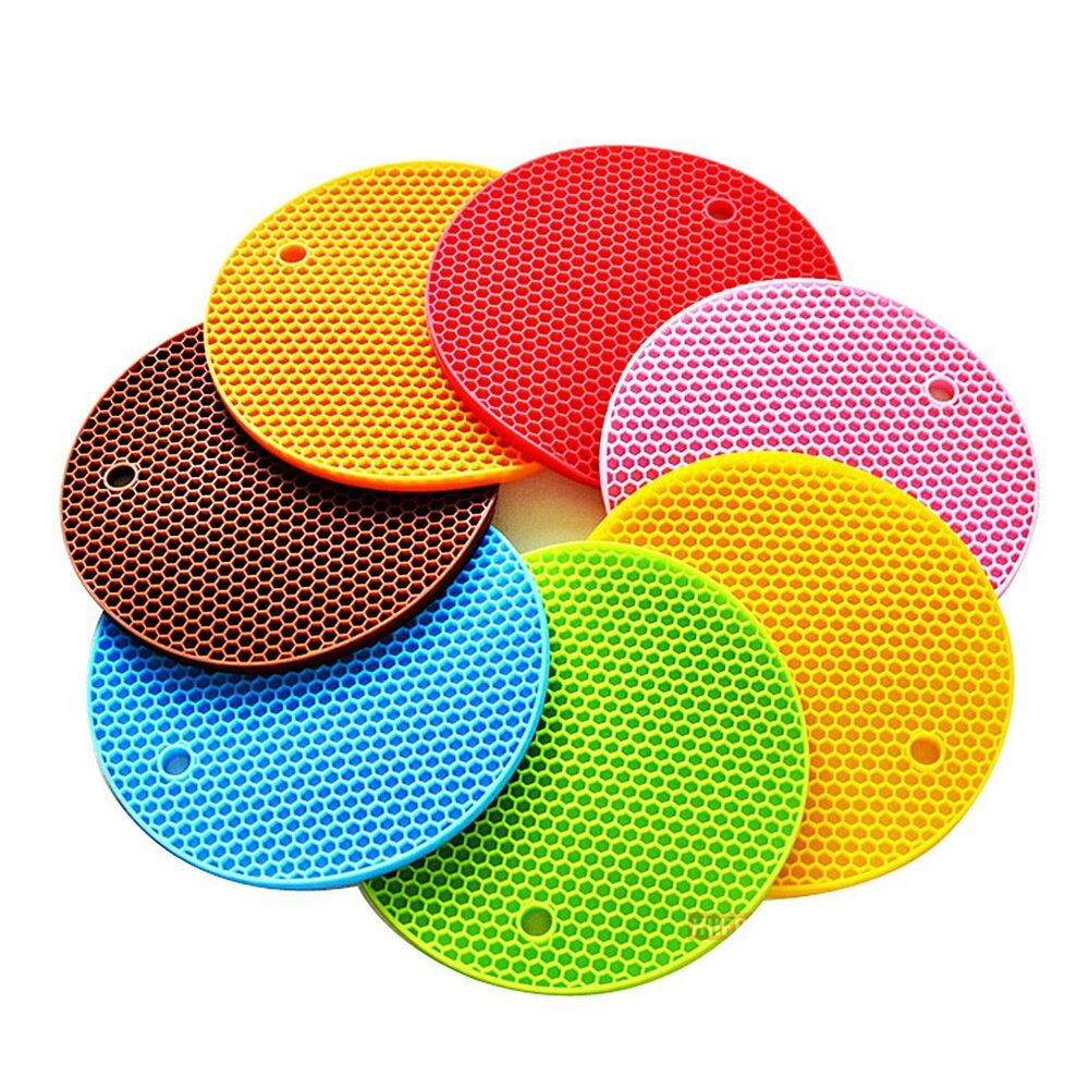 Silicone Pot Holders: 1PCSLittle Silicone Pot Holder Mat Trivet Heat Resistant