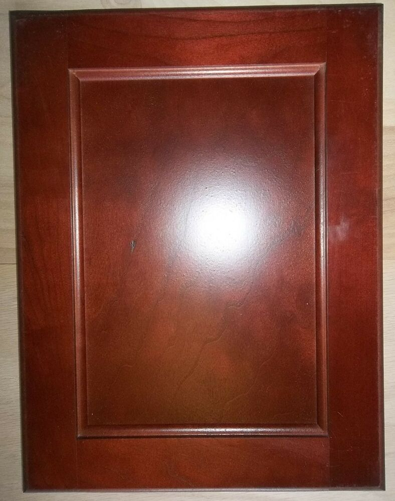 2 Red Cherry Kitchen Cabinet Cupboard Doors Square Flat