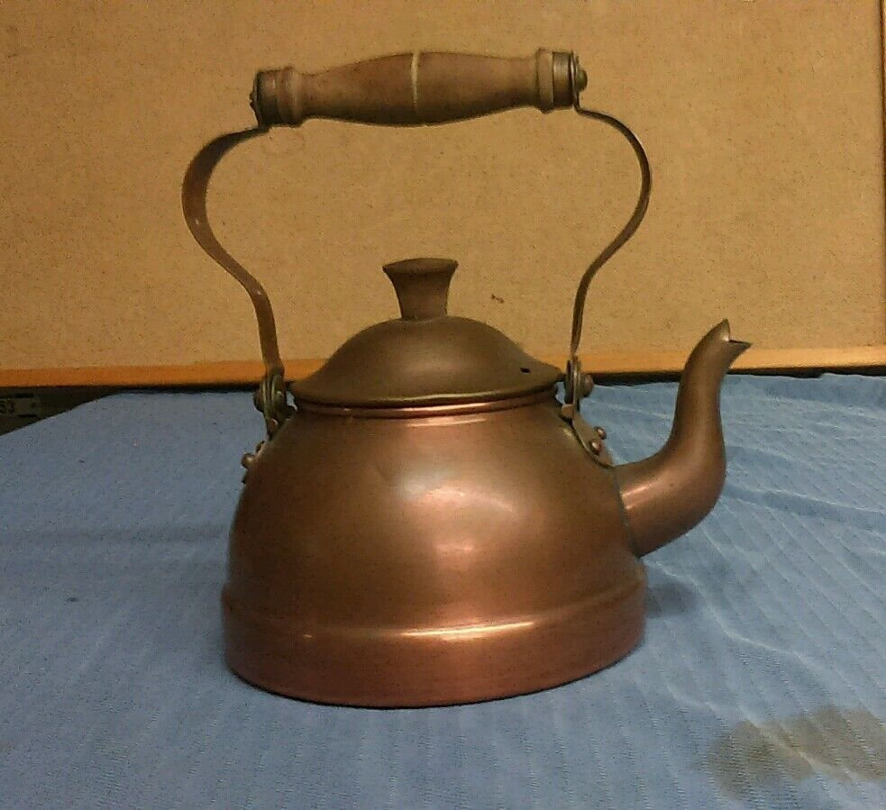 retro tea kettle vintage copral copper coffee tea pot kettle made in 1949