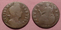 1700 KING WILLIAM III HALFPENNY - Scarce Variety Unbarred A's, Large 0