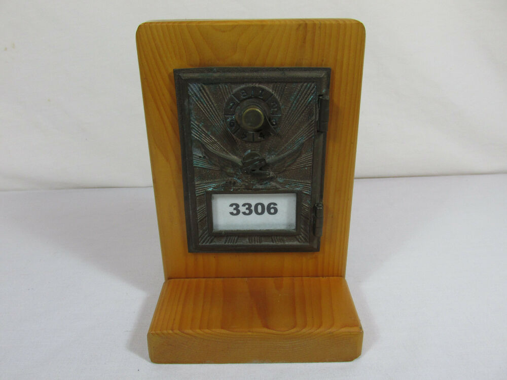 Old Vintage Post Office Po Box Bank Brass Bronze Mail Box