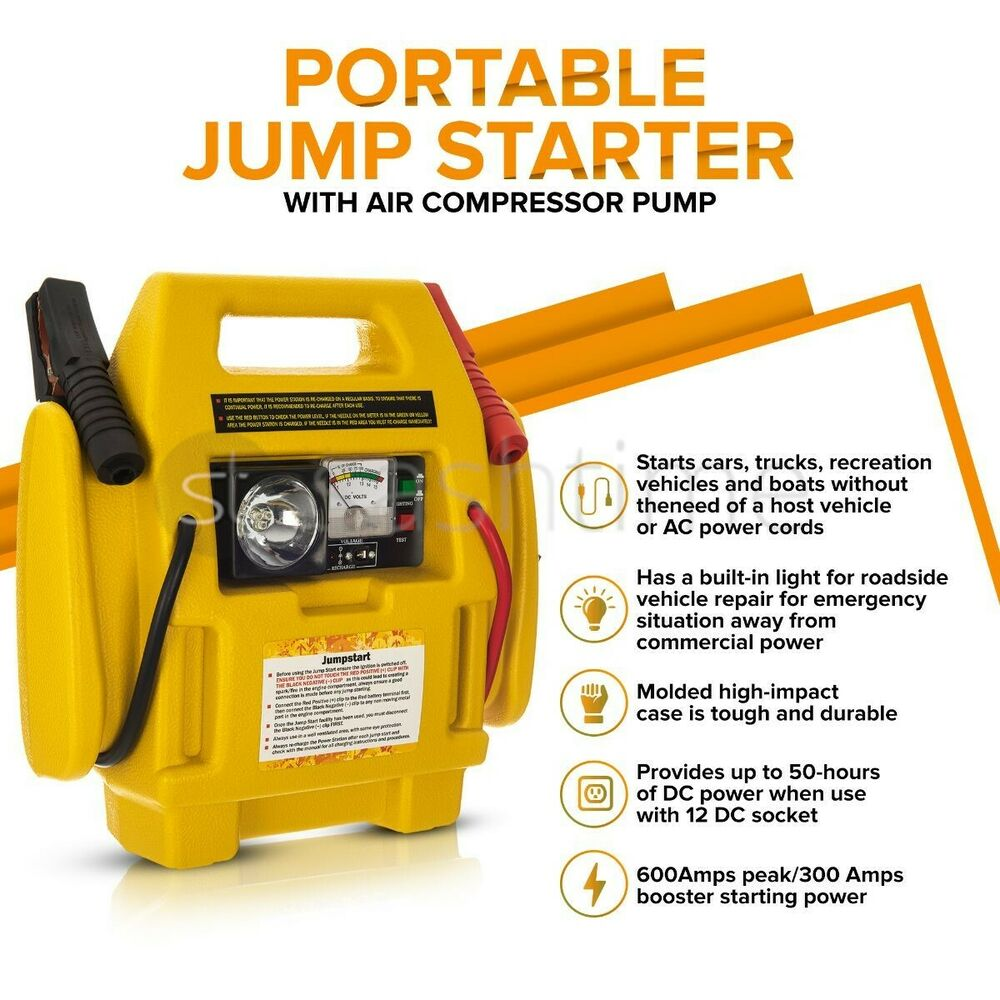 New 12v Rechargeable Emergency Booster Start Mighty Jump