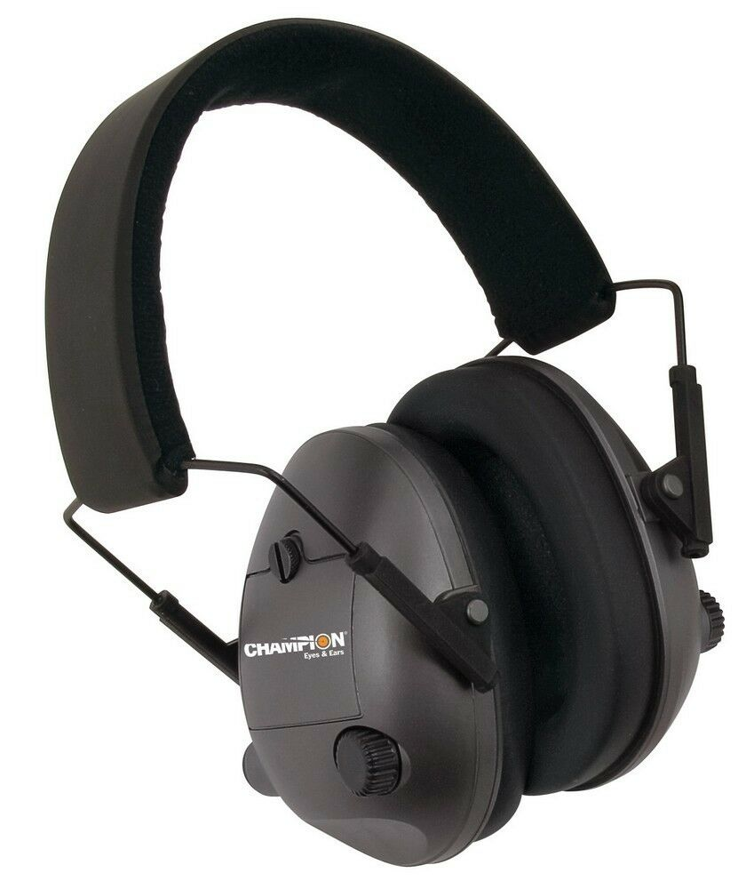Champion Electronic hearing protection ear muffs Black ...