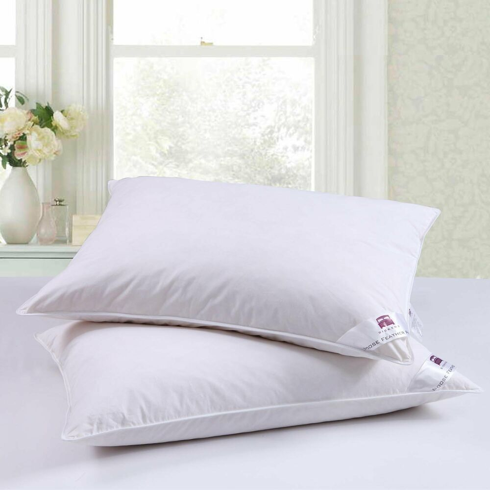 Luxury Goose Feather Down Pair Pillow Extra Filling