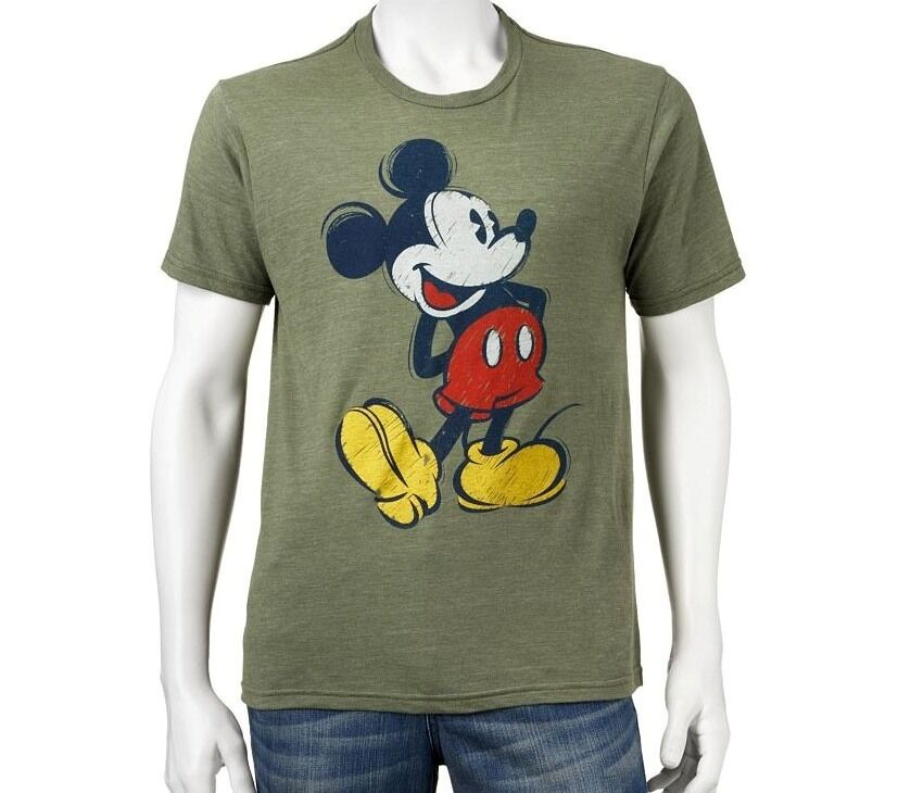 official licensed disney mickey mouse step jitters adult mens tee t shirt bnwt ebay. Black Bedroom Furniture Sets. Home Design Ideas