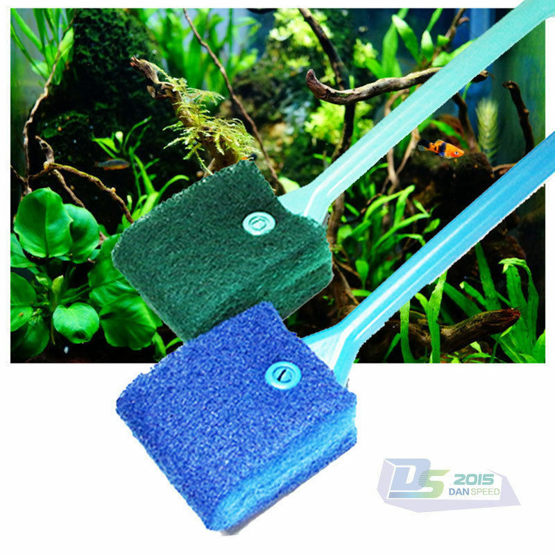 Plastic handle sponge cleaning brush cleaners algae for How to remove algae from fish tank glass