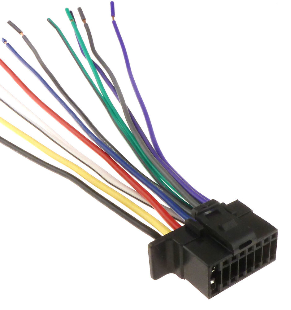 s l1000 new sony 16 pin radio wire harness car audio stereo power plug sony mex bt31pw wire harness at aneh.co