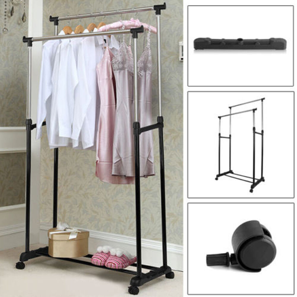 hanging clothes rack clothes coat rail garment dress hanging display 10440