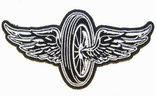 Biker Vest Patches >> MOTORCYCLE BIKE WHEEL WINGS PATCH P7430 NEW jacket patches ...