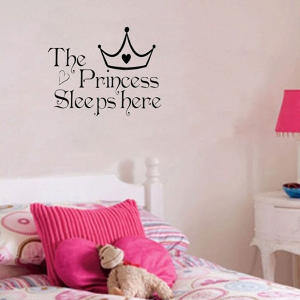 Nice princess removable wall sticker girls bedroom decor for Girls room wall decor