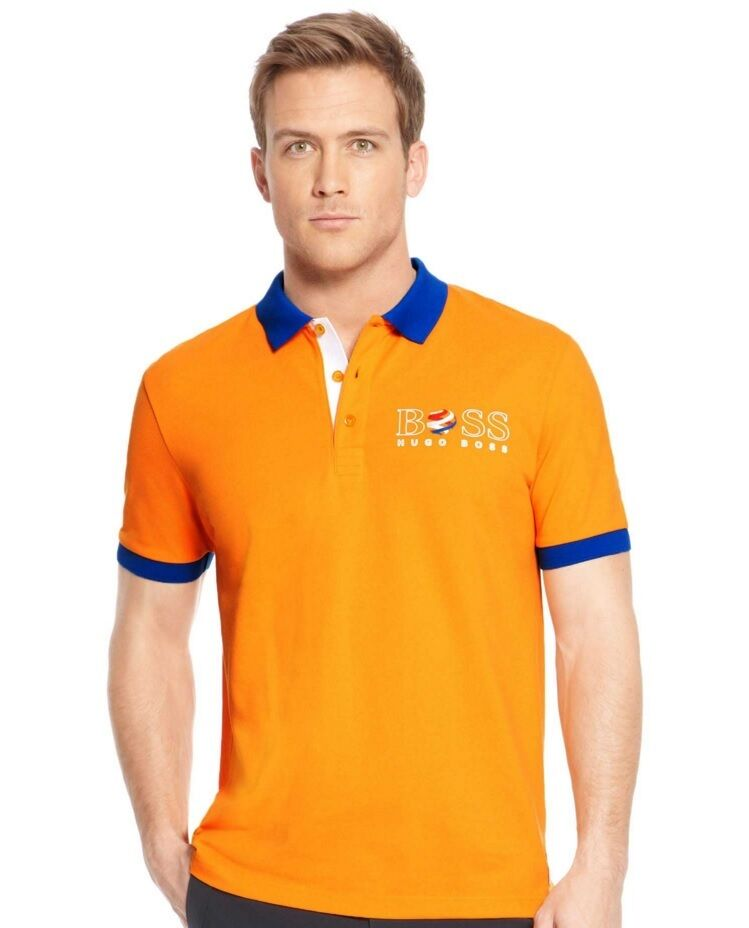 HUGO BOSS NETHERLANDS DUTCH ORANGE PADDY HOLLAND FOOTBALL POLO JEANS SHIRT  POLO | eBay