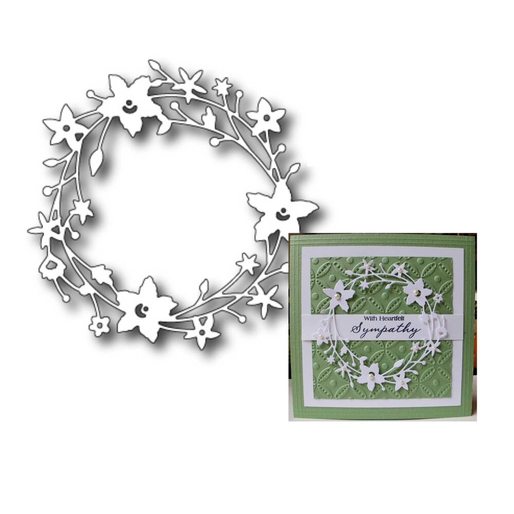CATALINA WREATH Memory Box dies 98189 thin metal craft die ...