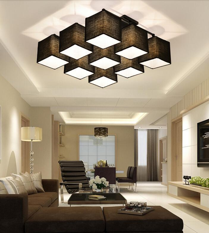 Lighting House: Modern Square Pendant Light Ceiling Lamp Sitting Room Bar