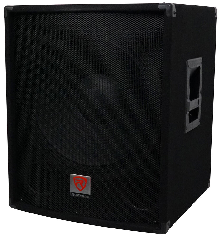 rockville sbg1184 18 1000 watt passive 4 ohm pro dj. Black Bedroom Furniture Sets. Home Design Ideas