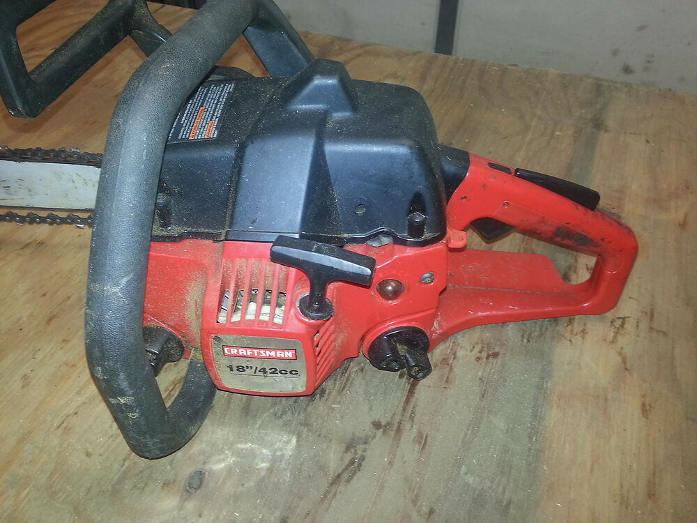 Sears Craftsman Chainsaw Parts : Used sears craftsman chainsaw for parts ebay