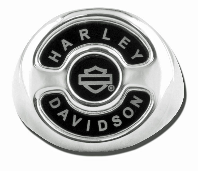 Harley Mens 925 Silver Black Onyx Inlayed Derby Cover