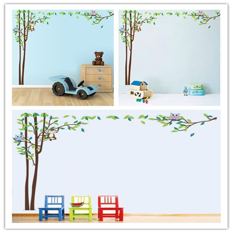 Huge monkey tree jungle animal wall stickers art decals for Baby room jungle mural