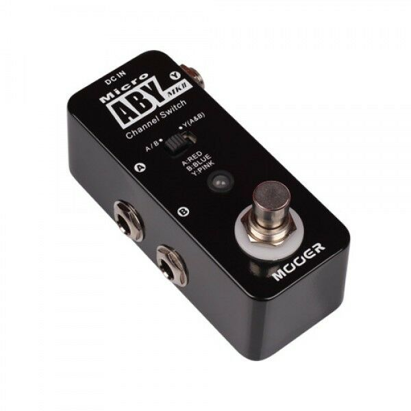 new mooer micro aby 2 mk ii channel switch guitar pedal true bypass switcher ebay. Black Bedroom Furniture Sets. Home Design Ideas