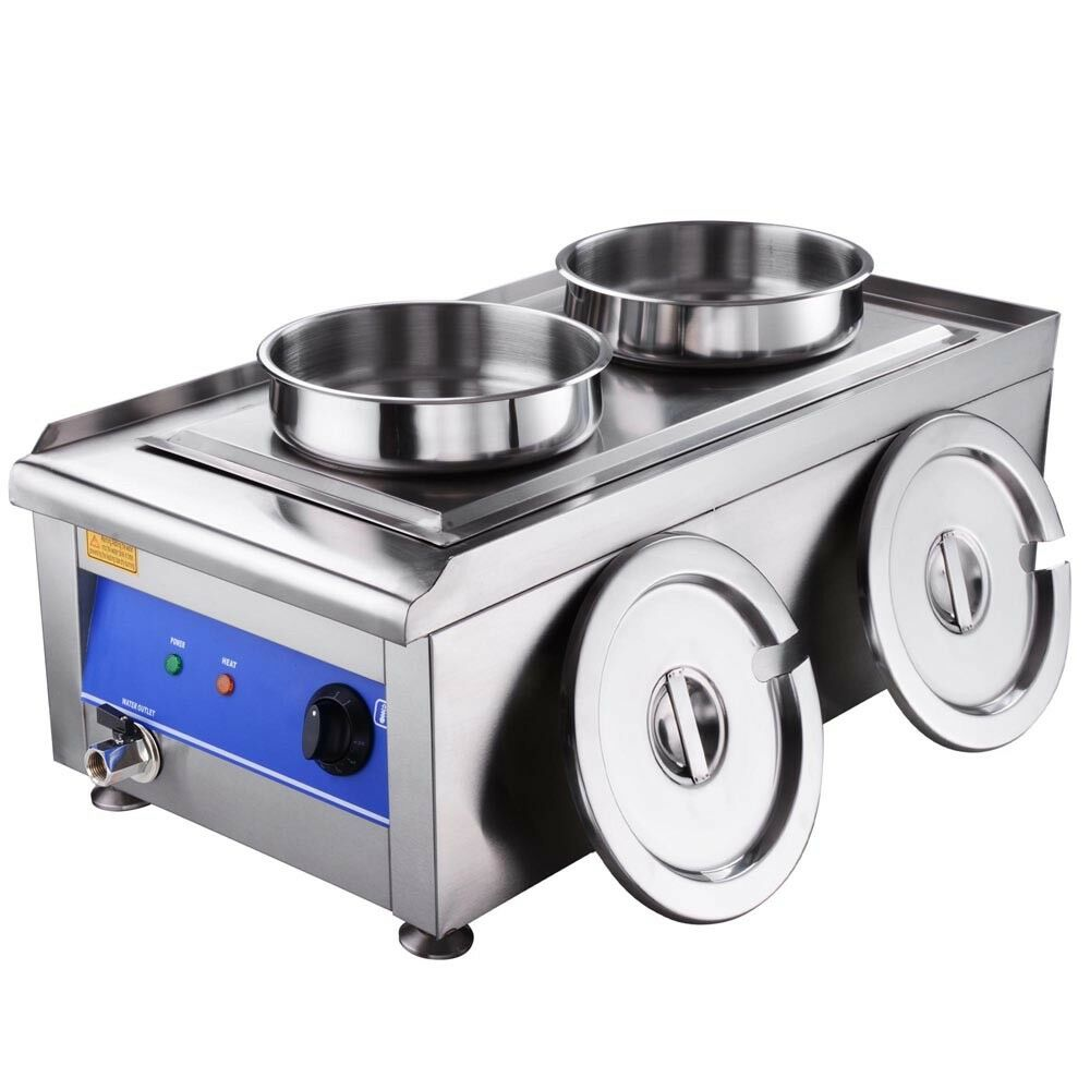 Commercial Kitchen Stainless Steel Soup Chili Food Warmer