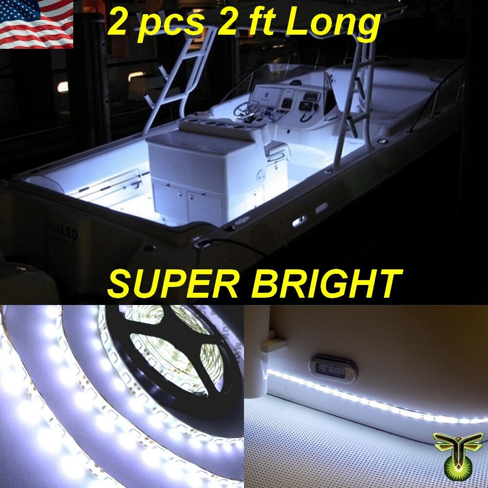 2x 2 24 Quot White Led Boat Deck Light Waterproof Bow
