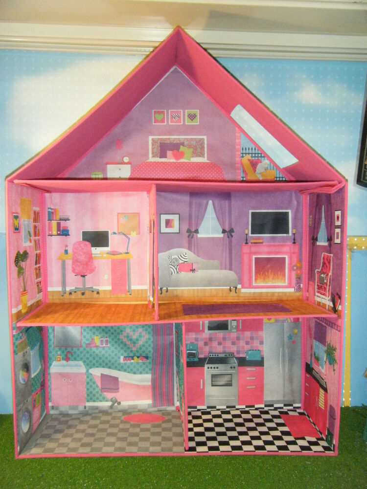 Barbie Size Calego 3d Imagination Modern Doll House Ebay