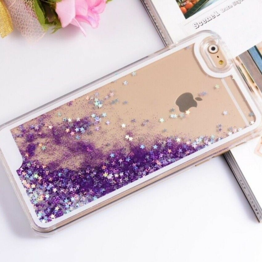 TR0237 Liquid Glitter Water Sparkly Stars Bling Case Cover