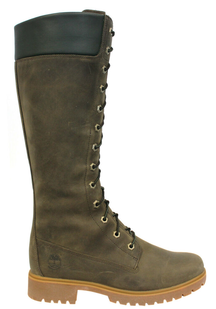 Elegant Timberland Womens Steel Toe Shoes 6 Inch Boots Green Black - $229.49