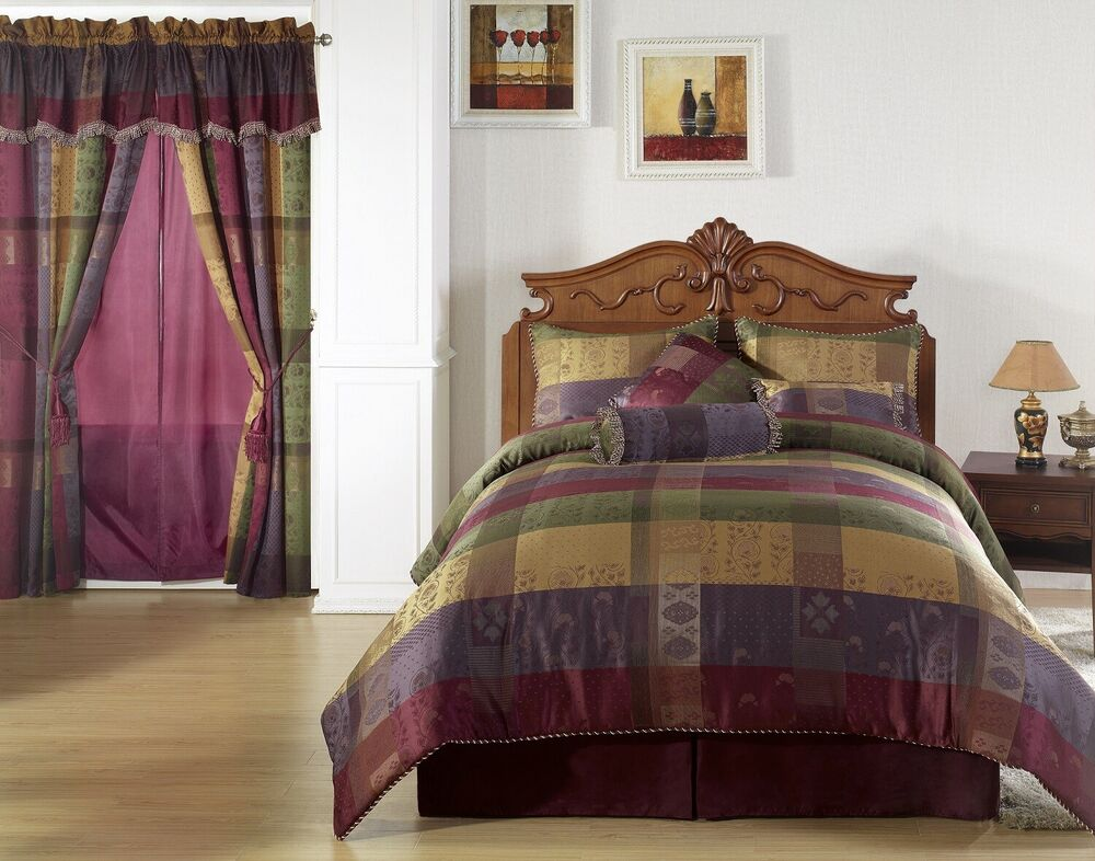 Chezmoi Collection 7pcs Moroccan Jacquard Patchwork