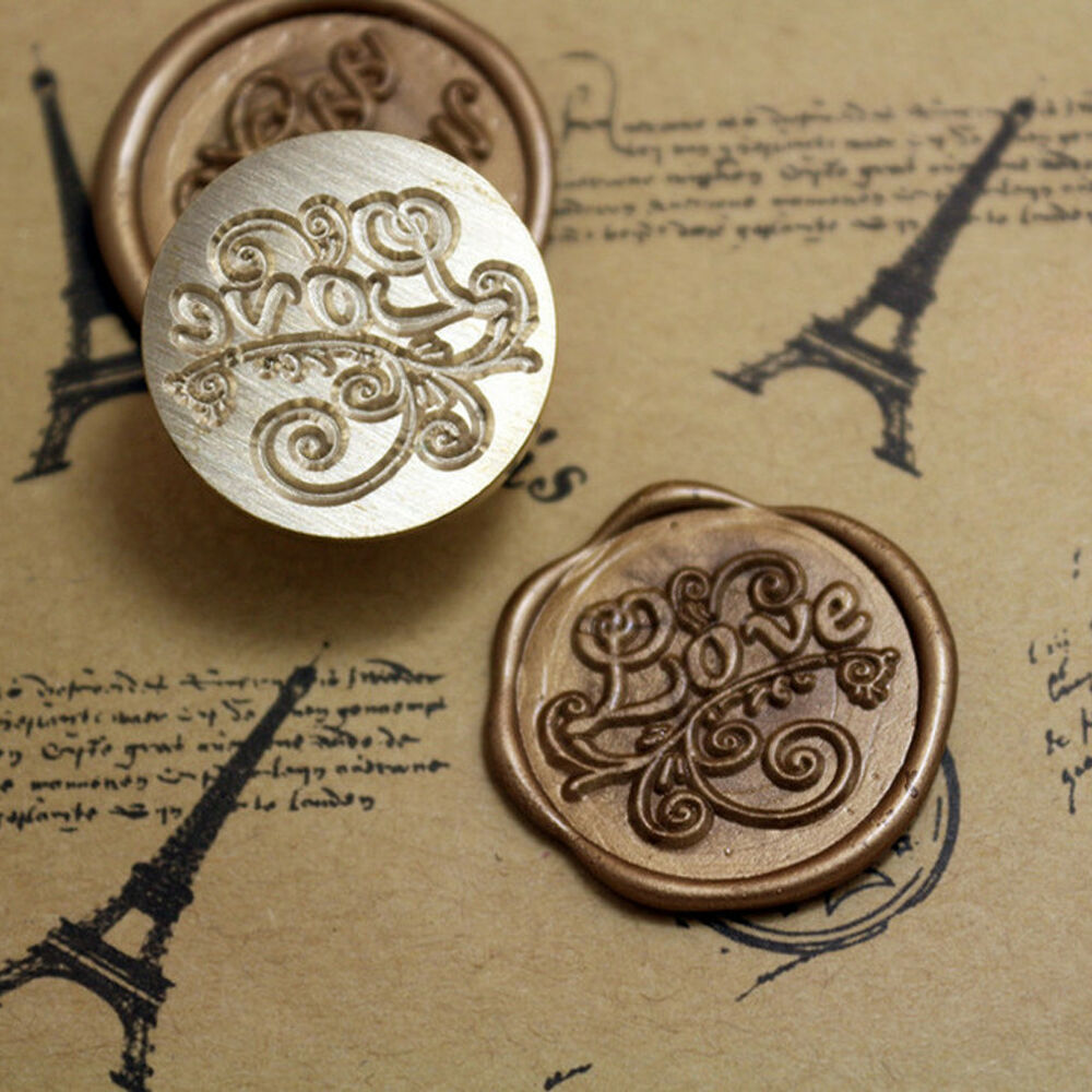 Love symbol initial letter sealing wax seal stamp classic for Letter seal stamp