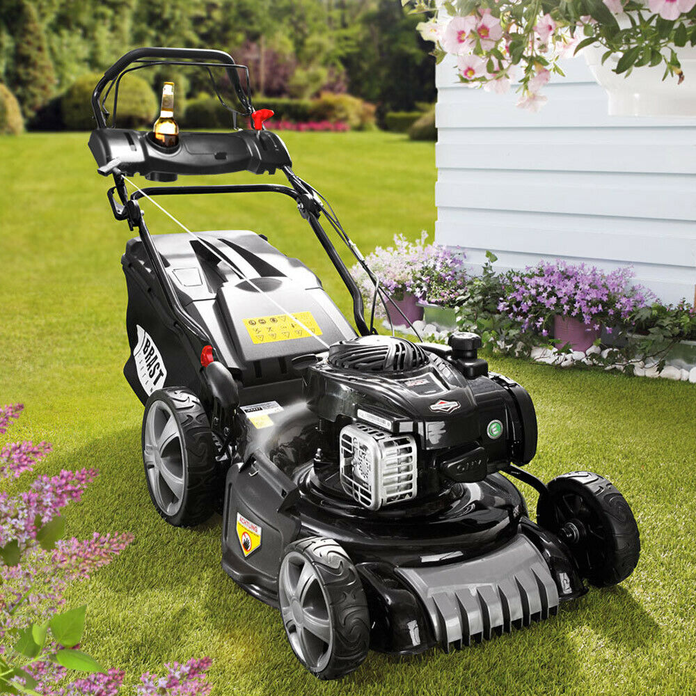 briggs stratton 4 in 1 benzin rasenm her mit selbstantrieb motorm her b s bs ebay. Black Bedroom Furniture Sets. Home Design Ideas