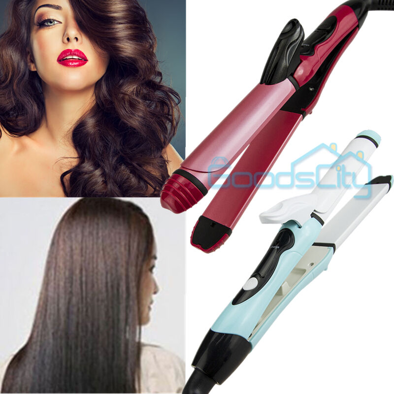 Professional 2 In 1 Curler Straightener Hot Hair Iron
