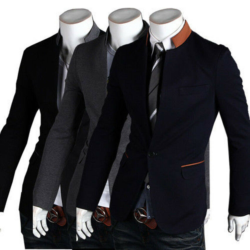 Blazers And Jackets: Black Friday Hot Sell Collar Fashion Slim Fit Mens Suit