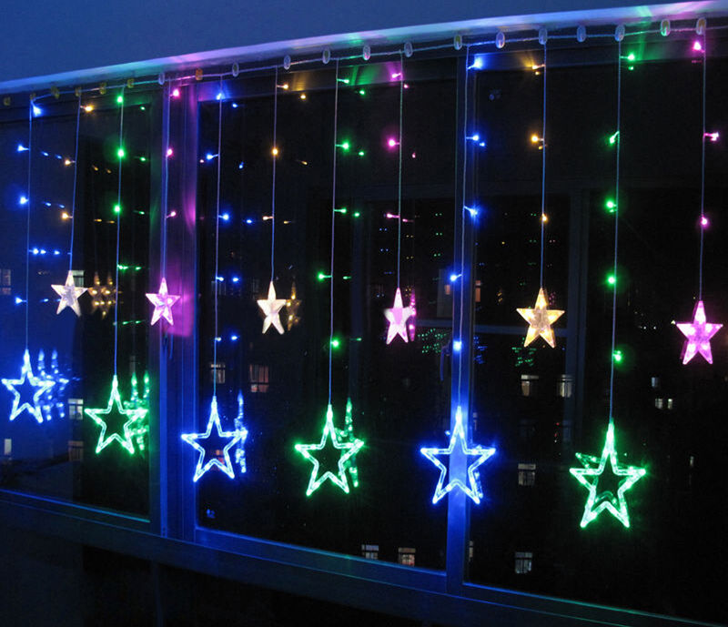 Color 12 Twinkling Star Christmas Fairy String Lights Window Bedroom 3M 48 LED S eBay