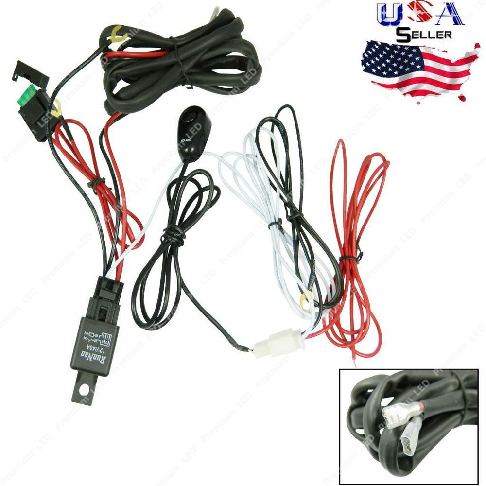 Universal relay harness wire kit led on off switch for