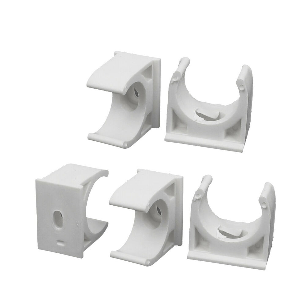 Pcs mm dia white pvc water supply pipe hose clamps