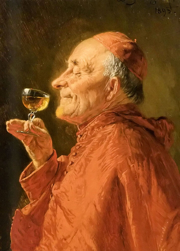 perfect oil painting adolf eberle a good vintage old man