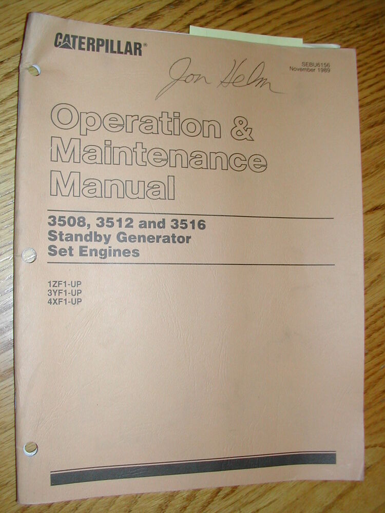 Caterpillar 3508 engine manual