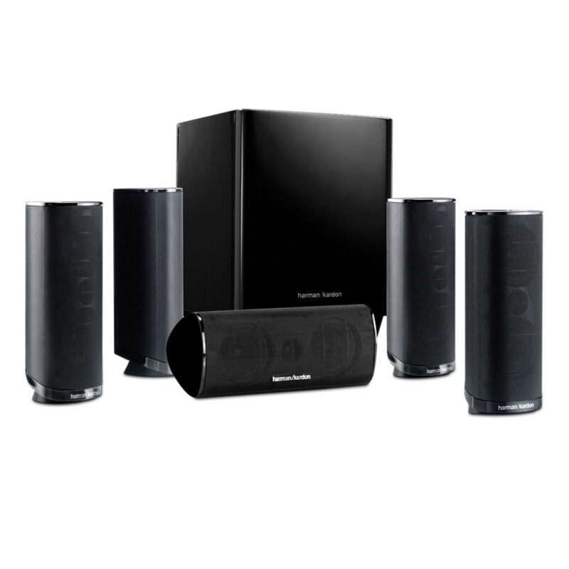 harman kardon hkts 16 black 5 1 channel home theater. Black Bedroom Furniture Sets. Home Design Ideas