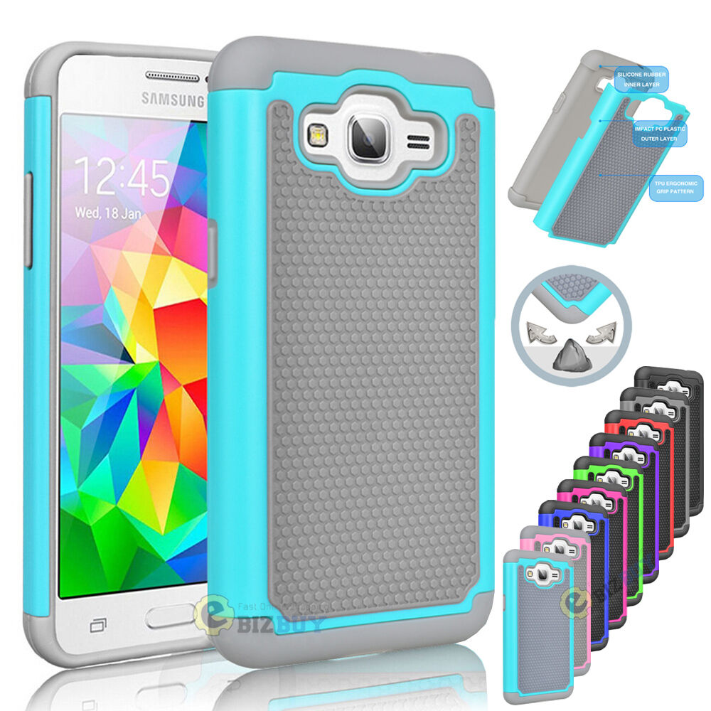 Hybrid Rugged Impact Rubber Hard Case Cover For Samsung ...