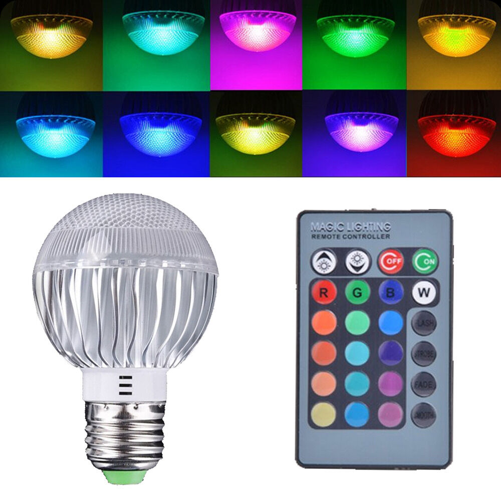 e27 15w wasserdicht farbewechsel rgb led lampe remote. Black Bedroom Furniture Sets. Home Design Ideas