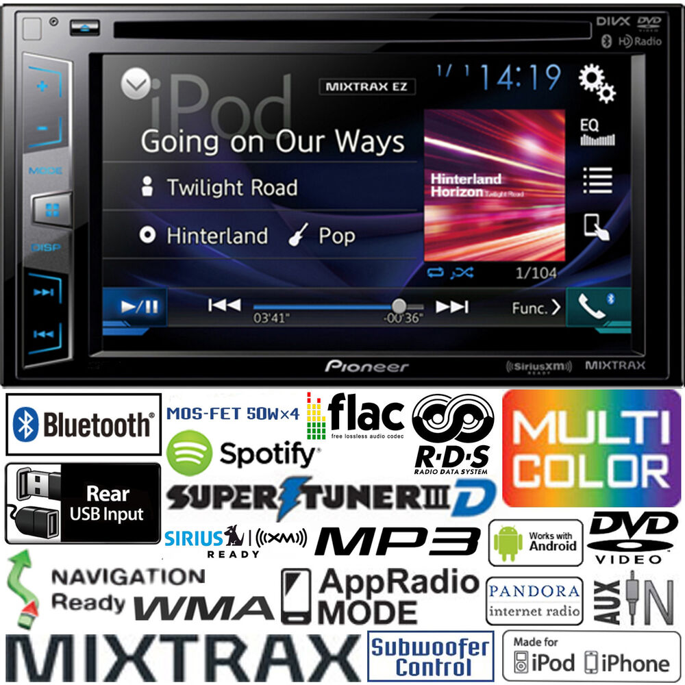 Pioneer Double Din DVD CD Player Car Radio Bluetooth USB
