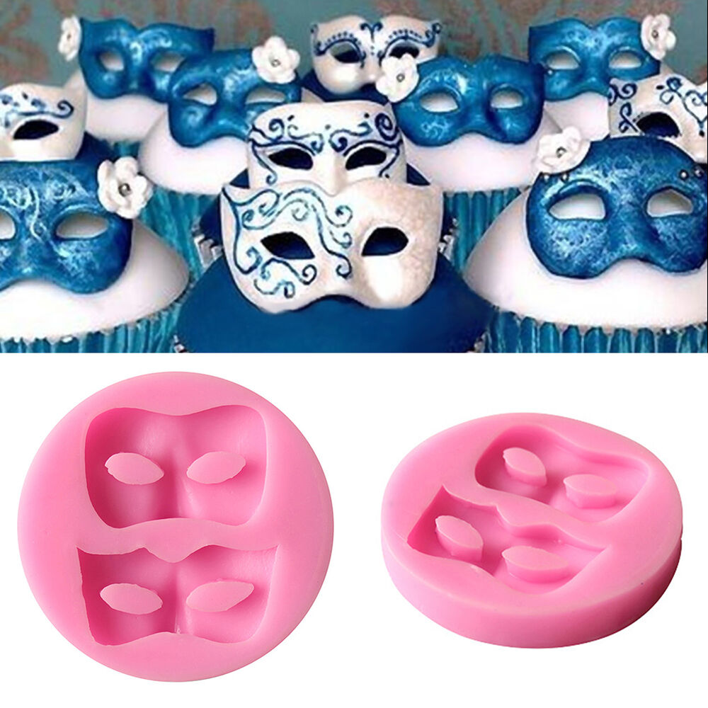 3D Mask Fondant Mould Cake Decorating Chocolate Baking ...