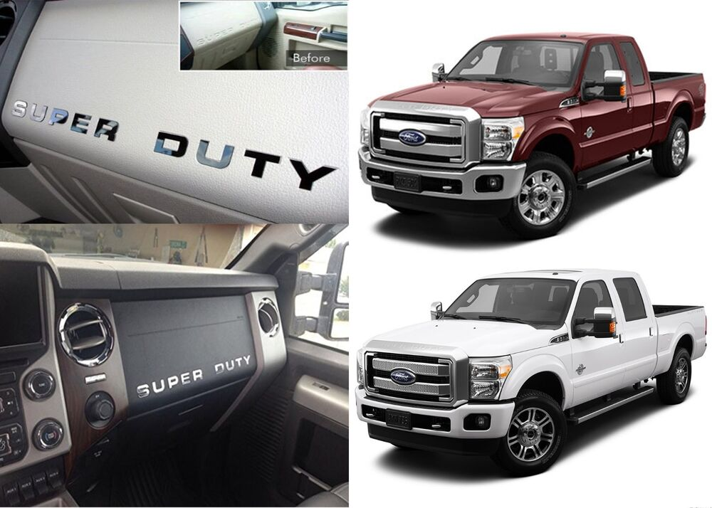 2016 Ford Super Duty >> Chrome Mirror Dashboard Letter Inserts Kit For 2008-2015 ...