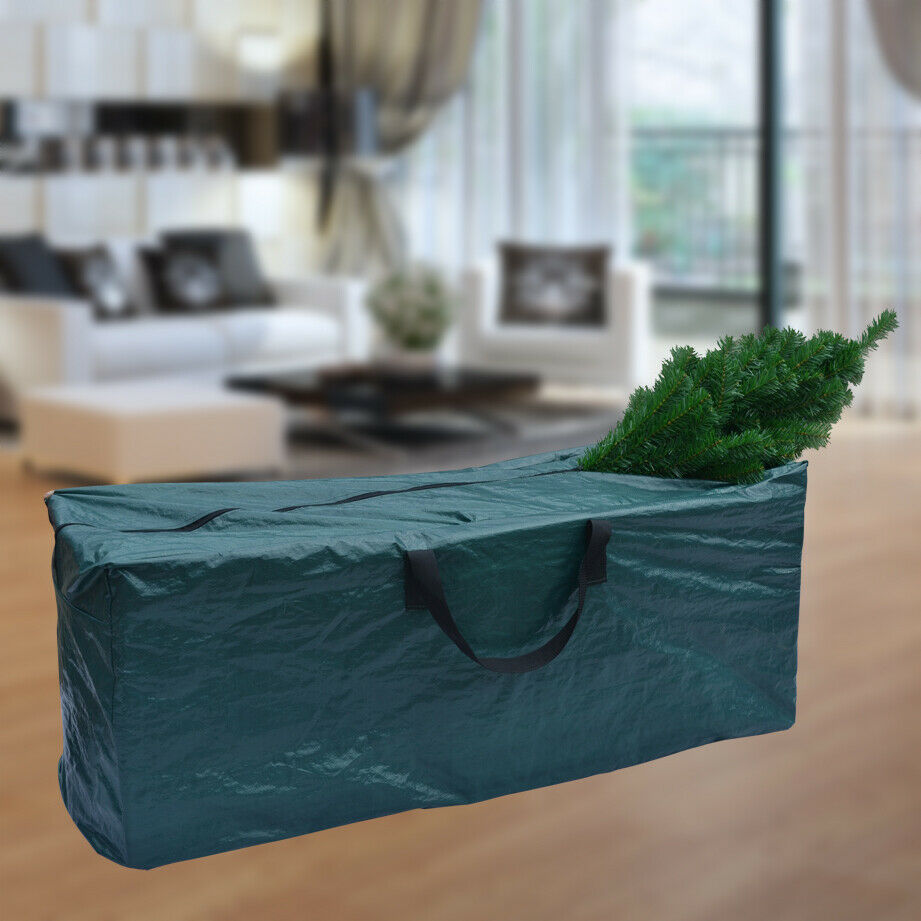 heavy duty large christmas tree storage bag for clean up holiday green up to 8ft ebay. Black Bedroom Furniture Sets. Home Design Ideas