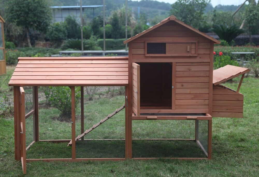Huge 8 39 chicken coop running cage backyard poultry hen for Large chicken house