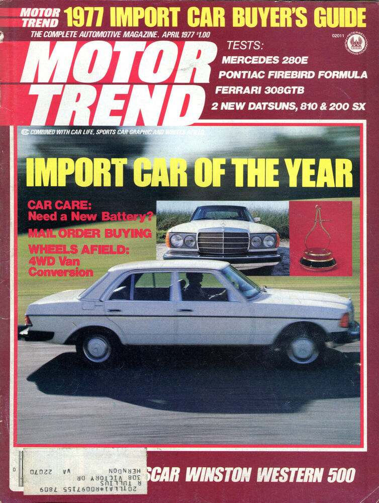 motor trend magazine april 1977 import car of the year vgex 010816jhe ebay. Black Bedroom Furniture Sets. Home Design Ideas