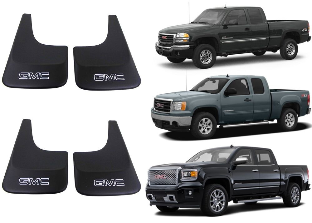 (4) Genuine GM 19213394 Splash Guards Mud Flaps For GMC ...